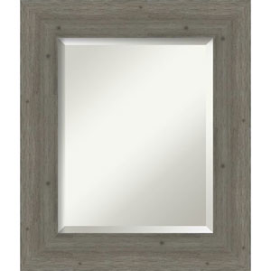 Fencepost Gray 23-Inch Bathroom Wall Mirror