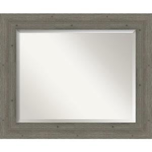 Fencepost Gray 35-Inch Bathroom Wall Mirror