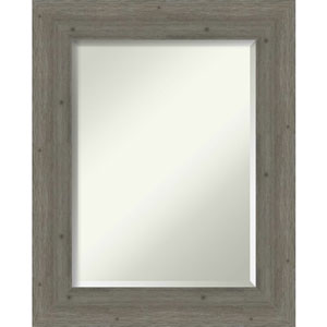 Fencepost Gray 25-Inch Wall Mirror