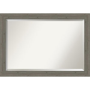 Fencepost Gray 41-Inch Wall Mirror