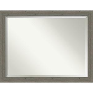 Fencepost Gray 45-Inch Bathroom Wall Mirror