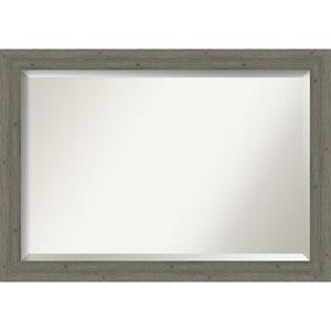 Fencepost Gray 41-Inch Bathroom Wall Mirror