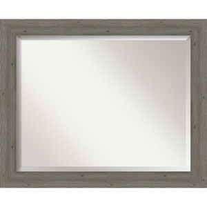 Fencepost Gray 33-Inch Bathroom Wall Mirror