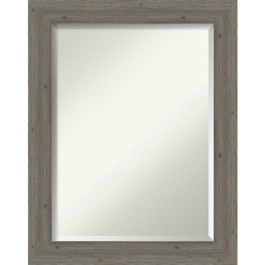 Fencepost Gray 23-Inch Narrow Bathroom Wall Mirror