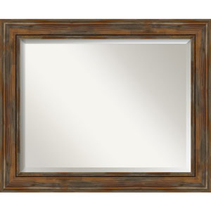 Alexandria Rustic Brown 34-Inch Wall Mirror