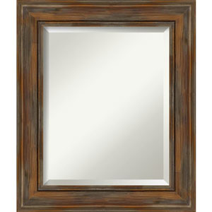Alexandria Rustic Brown 22-Inch Wall Mirror