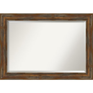 Alexandria Rustic Brown 42-Inch Wall Mirror