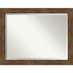 Alexandria Rustic Brown 46-Inch Bathroom Wall Mirror