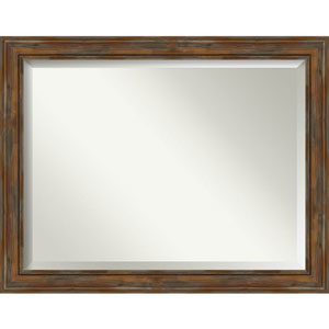 Alexandria Rustic Brown 46-Inch Wall Mirror