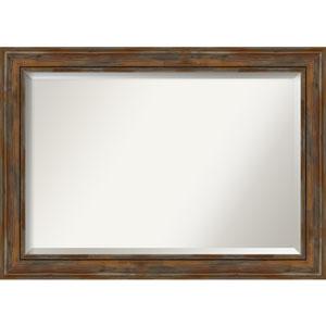 Alexandria Rustic Brown 42-Inch Bathroom Wall Mirror