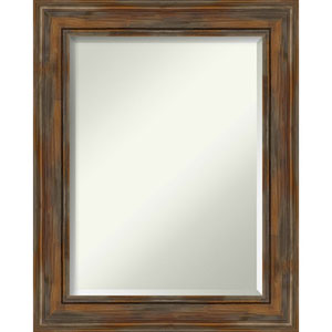 Alexandria Rustic Brown 24-Inch Bathroom Wall Mirror