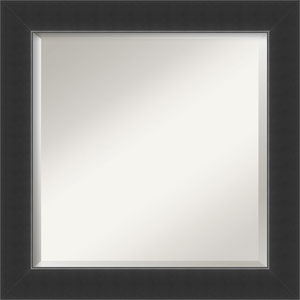 Corvino Black 25-Inch Bathroom Wall Mirror
