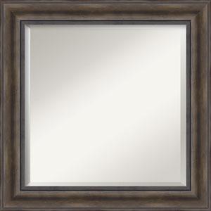 Brown 25-Inch Bathroom Wall Mirror