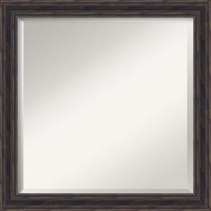 Rustic Pine 23-Inch Narrow Bathroom Wall Mirror