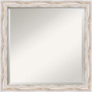 Alexandria White 23-Inch Bathroom Wall Mirror