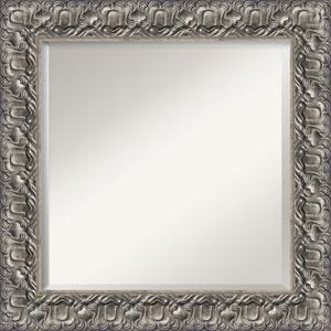 Silver 26-Inch Bathroom Wall Mirror
