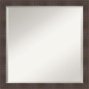 Whiskey Brown 22-Inch Bathroom Wall Mirror