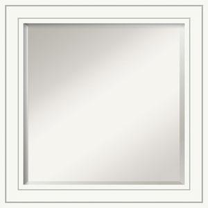 Craftsman White 25-Inch Bathroom Wall Mirror
