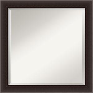Brown 24-Inch Narrow Bathroom Wall Mirror