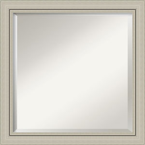 Silver 24-Inch Narrow Bathroom Wall Mirror