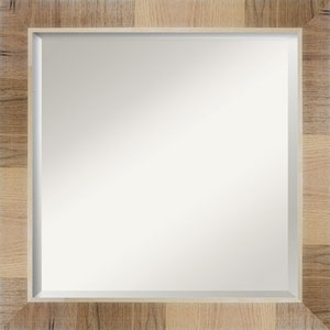 Brown 24-Inch Bathroom Wall Mirror