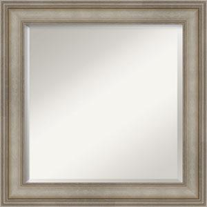 Mezzanine Antique Silver 25-Inch Bathroom Wall Mirror