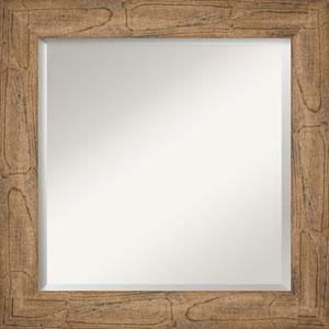 Owl Brown 25-Inch Bathroom Wall Mirror