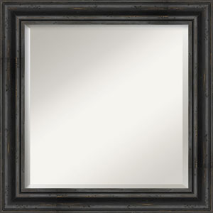 Rustic Pine Black 25-Inch Bathroom Wall Mirror