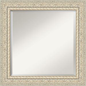 Fair Baroque Cream 26-Inch Bathroom Wall Mirror