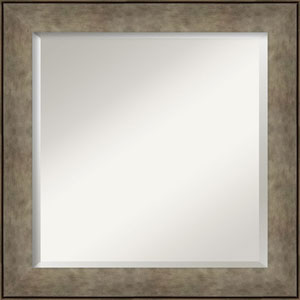 Pounded Silver 25-Inch Bathroom Wall Mirror