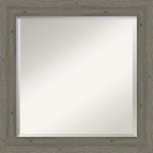 Fencepost Gray 25-Inch Narrow Bathroom Wall Mirror