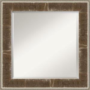Farmhouse Brown 26-Inch Bathroom Wall Mirror