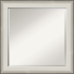 Allure White 25-Inch Bathroom Wall Mirror