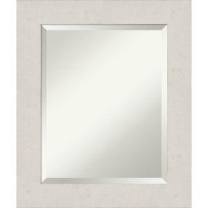 Rustic Plank White 21W X 25H-Inch Bathroom Vanity Wall Mirror