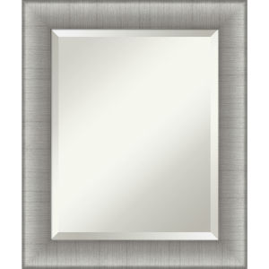 Elegant Pewter 21W X 25H-Inch Bathroom Vanity Wall Mirror