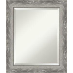 Waveline Silver 20W X 24H-Inch Bathroom Vanity Wall Mirror