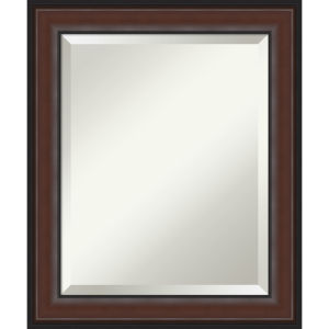 Harvard Walnut 21W X 25H-Inch Bathroom Vanity Wall Mirror