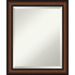 Yale Walnut 19W X 23H-Inch Bathroom Vanity Wall Mirror
