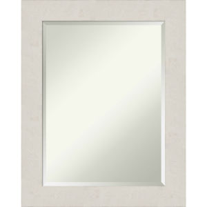 Rustic Plank White 23W X 29H-Inch Bathroom Vanity Wall Mirror