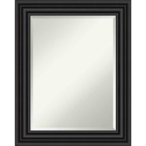 Colonial Black 24W X 30H-Inch Bathroom Vanity Wall Mirror