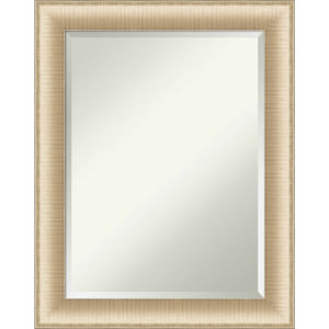 Elegant Brushed Honey 23W X 29H-Inch Bathroom Vanity Wall Mirror