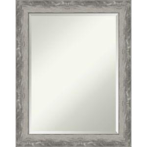 Waveline Silver 22W X 28H-Inch Bathroom Vanity Wall Mirror