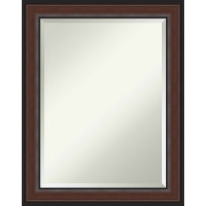 Harvard Walnut 23W X 29H-Inch Bathroom Vanity Wall Mirror