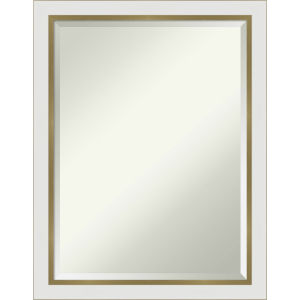 Eva White and Gold 21W X 27H-Inch Bathroom Vanity Wall Mirror