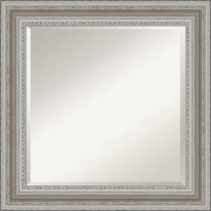 Parlor Silver 26W X 26H-Inch Bathroom Vanity Wall Mirror