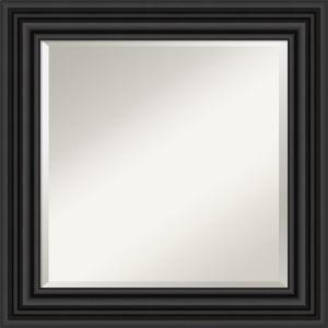 Colonial Black 26W X 26H-Inch Bathroom Vanity Wall Mirror