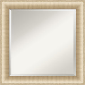 Elegant Brushed Honey 25W X 25H-Inch Bathroom Vanity Wall Mirror