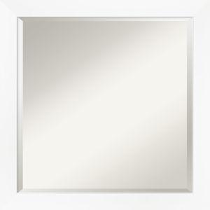 White Frame 23W X 23H-Inch Bathroom Vanity Wall Mirror