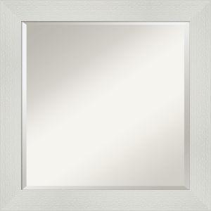 Mosaic White 24W X 24H-Inch Bathroom Vanity Wall Mirror