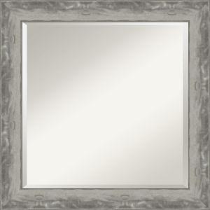 Waveline Silver 24W X 24H-Inch Bathroom Vanity Wall Mirror